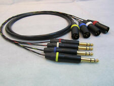 Canare MR202-4AT 4 Channel Balanced Studio Snake Cable, XLR-M to TRS-M, 3 ft.