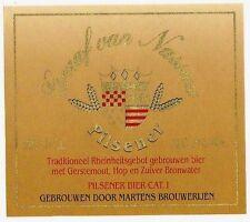 Beer Label - Martens Brewery - Belgium - Graaf Van Nassau Pilsner