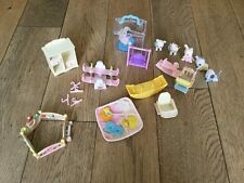 Sylvanian Families Nursery Bundle, 6 Baby characters, play pen, HighChair & more