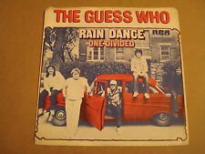 45T SINGLE WITH CAR COVER / THE GUESS WHO - RAIN DANCE
