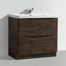 900mm Designer Chestnut Bathroom Floor Standing Vanity Unit Furniture Basin