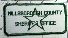 FLORIDA, HILLSBOROUGH COUNTY SHERIFF'S OFFICE WHITE PATCH
