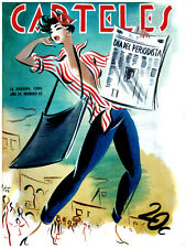 """20x30""""Quality CANVAS poster.Room art.Sexy pinup Newspaper seller.6808."""