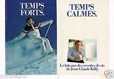 Publicité advertising 1982 (2 pages) Le Lait avec Jean Claude Killy