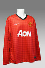 NIKE MANCHESTER UNITED Football Shirt Long Sleeved Home