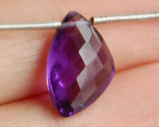 Natural African Amethyst Faceted Free Form Briolette Semi Precious Gemstone Bead