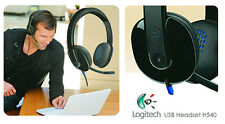 Logitech H540 981-000510 USB Headset for PC Calls and Music Black Noise cancel