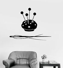 Vinyl Wall Decal Sewing Tailor Shop Atelier Tools Stickers Mural (491ig)