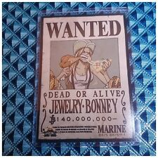 Mugiwara Store Limited One Piece Wanted Poster Bromide Card Jewelry Bonney