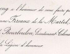 De Martineng Fizeaux De La Martel 1860 De Bourboulon