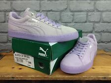 PUMA LADIES UK 6 EU 39 SUEDE MONO ICED LILAC TRAINERS RRP £54.99