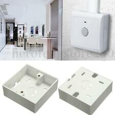 8x8x3cm White Plastic Wall Enclosure Box Junction Box For Electric Switch DIY#38