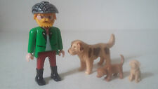 LOT PIÈCES FIGURINES PLAYMOBIL - SET 3005 MAÎTRE CHIEN CHIOTS MAN DOG PUPPIES