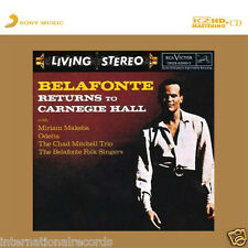 """Harry Belafonte - Returns To Carnegie Hall"" Sony Japan Limited Numbered K2HD CD"