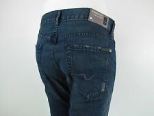 7 Seven For All Mankind STANDARD STRAIGHT Jeans Men SZ 36 IN PRUSSIAN DARK BLUE