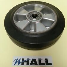 200/50 - 140 rubber steer wheel for hand pallet/ pump truck (60mm hub width)