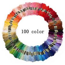 100pcs 100 Different Colors Cross Stitch Floss Embroidery Sewing Cotton Thread