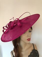 Hatinator Fuchsia Pink Wedding Hat Fascinator Saucer Formal Ladies Fushia Ascot