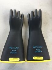Salisbury Rubber Lineman Gloves Class 2 D120 Type I 17,000VAC Used SIZE 9 #6