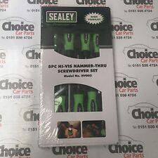 Sealey HV002 Screwdriver Set 8pc Hammer-Thru Hi-Vis