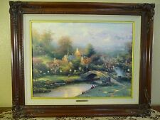Thomas Kinkade Lamplight Village S/N Canvas 1202/4950 Brandy Frame NALED R 1995
