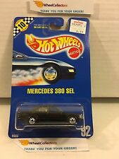 #2 Mercedes 380 SEL #92 * Black * Blue Card Hot Wheels * h71