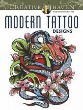 Adult Coloring: Creative Haven Modern Tattoo Designs Coloring Book by...