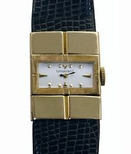 Authentic TIFFANY & Co Vintage 40s Ladies Large 14k Yellow Gold High Grade Watch