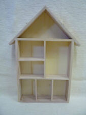HOUSE SHAPE  DISPLAY SHELF UNIT -THIMBLES- DOLL'S HOUSE MINIATURES - ORNAMENTS