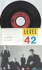 """7"""" LEVEL 42 -- LESSONS IN LOVE"""