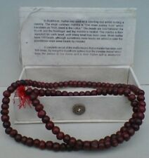 MALLA / MALLAH PRAYER BEADS BUDDHIST ROSARY WOOD IN BOX MEDITATION MALA BEAD