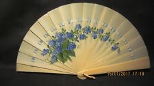 FINE VICTORIAN CARVED BRISE PAINTED WEDDING FAN EVENTAIL CHINESE INTEREST c.1860