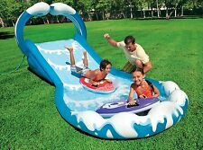 Inflatable Water Slide Bounce Outdoor Games Backyard Toy Kid Fun Pool Surf Party