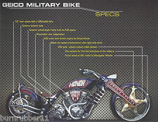 "US ARMED FORCES EDITION ""GEICO MILITARY BIKE"" BY PAUL JR DESIGNS HANDOUT"