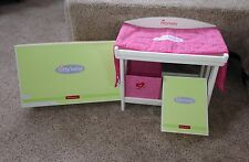 American Girl Retired Bitty Baby Doll Changing Table Pad & Storage Original BOX