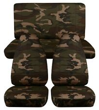 1997-2002 Jeep Wrangler Seat Covers / Army Camouflage 31 Front and Rear