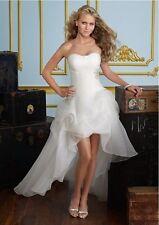 Charm Organza ivory Hi-Lo Dresses Wedding Dress Beach Gown Size: 6-8-10-12-14-16