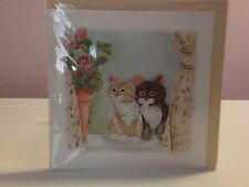 Quilling Cards LLC - 2 Kittens Note Card