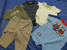 5 Piece Lot Infant Clothing Pants Shirts Onsies Rompers Size 0-3m