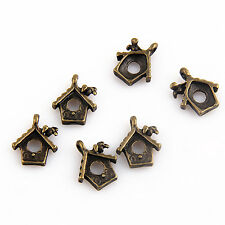 Lot 20Pcs Bronze Plated Bird's nest Pendants For Jewellery Making 15mm Bead213