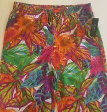 Ralph Lauren Women Floral Print Pants Polyester Nice Lightweight 1X NWT $135