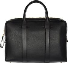 Tom Ford Buckley Leather Trapeze Small Briefcase Bag Black 14BG0119 $2895