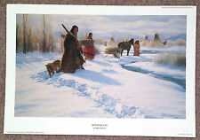 "Robert Duncan Listed Utah Artist Lithograph Signed Limited Ed. ""Winter Fuel"" COA"