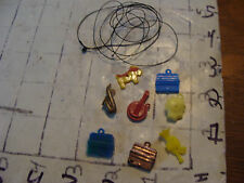 vintage Kids plastic CHARMS, 8 IN ALL PLUS STRING.