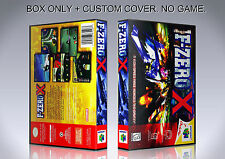 F ZERO X. NTSC VERSION. Box/Case. Nintendo 64. BOX + COVER. (NO GAME).