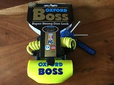 Oxford Boss super strong Yellow Disc Lock OF39 brand new sealed product