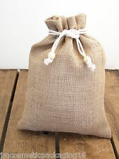 Small Hessian Jute Sack Vegetable Storage Bag 20 x 27cm Rustic Kids Sack  #28