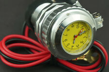 Motorcycle Car Cell Phone USB Power Charger Waterproof Port Socket 12V & Clock