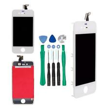 White Front Digitizer Touch Screen LCD w/Frame Assembly for iPhone 4S/4GS +Tools