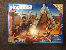 Playmobil 4012 Western Indian Camp Playset New in sealed box!